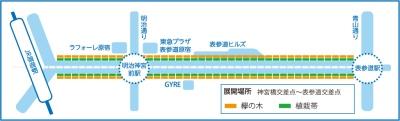 表参道イルミネーション地図画像